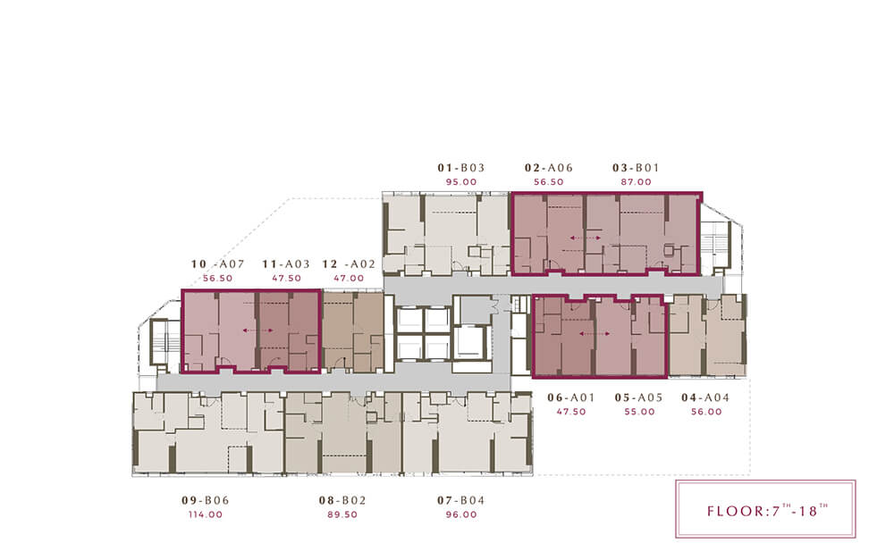 Mulberry Grove Sukhumvit floor plan 7-18